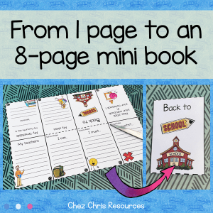 Back to School Mini Book