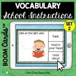 couverture - les consignes de classe en anglais - choisir le mot qui convient