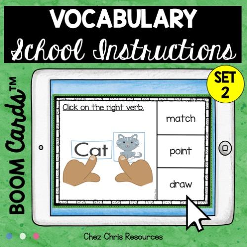 Les consignes de classe en anglais: choisir le bon mot parmi les 3 proposés