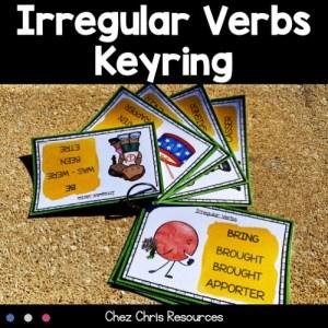 115 verbes irréguliers en anglais reliés par un anneau pour réviser ou apprendre