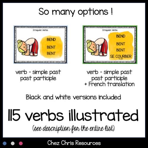 Verbes irréguliers en anglais: avec ou sans la traduction en anglais