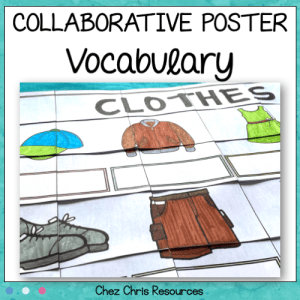 Clothes Vocabulary Collaborative Poster