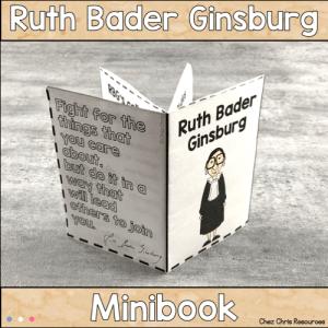 Ruth Bader Ginsburg Mini Book