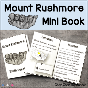 Mount Rushmore Mini Book