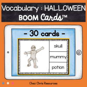 BOOM Cards : Halloween Vocabulary – Set 1