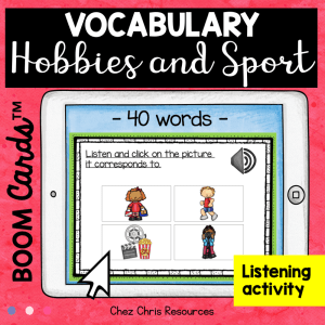 BOOM Cards : Hobbies & Sport Vocabulary – Listening Activity