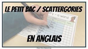 Le Petit Bac en anglais, un jeu excellent pour enrichir son vocabulaire