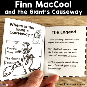 Finn MacCool and the Giant's Causeway – Mini book and activities