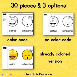 vignette 1 du poster collaboratif émotions utilisant des smileys