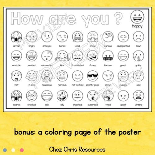 vignette 3 du poster collaboratif émotions utilisant des emojis