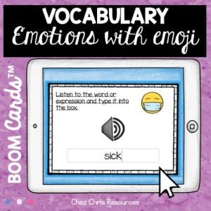 vignette 1 de la ressource sur les émotions en anglais : écoute et écris