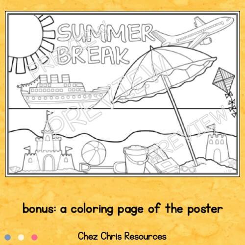 vignette du poster collaboratif vacances d'été