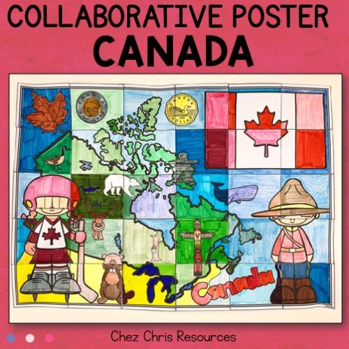 couverture du poster collaboratif sur les symboles du Canada
