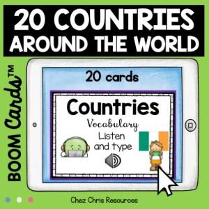 vignette 1 de la ressource 20 pays du monde en anglais