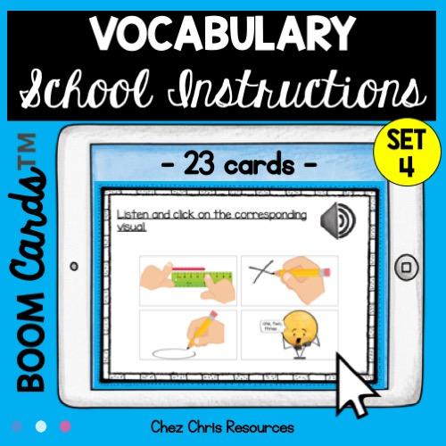 Compréhension orale: les consignes de classe en anglais - vignette 2
