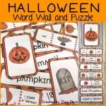 couverture du word wall words consacré à Halloween