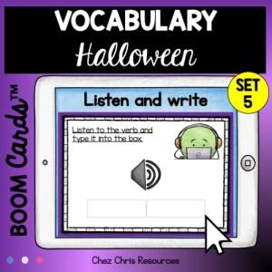 30 mots de vocabulaire d'Halloween à écouter et à écrire