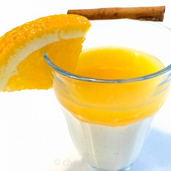Pannacotta med appelsin