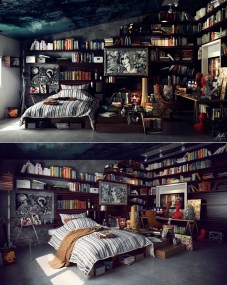 13-library-bedroom
