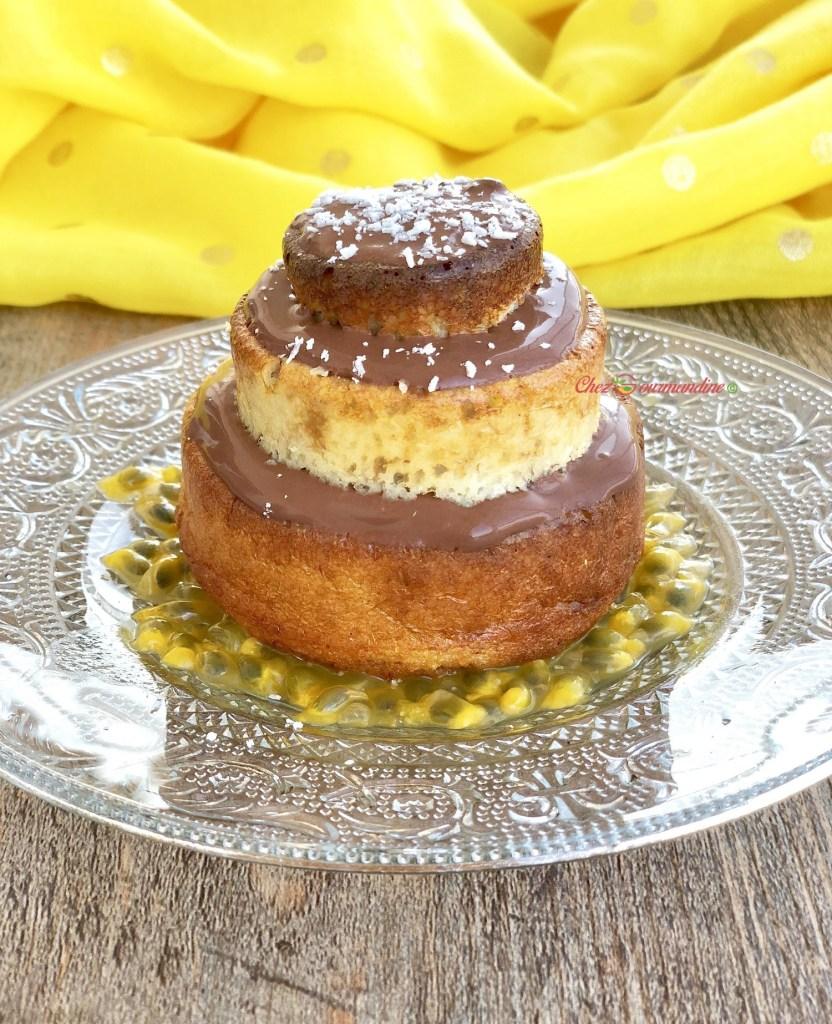 Gâteau banane coco rhum