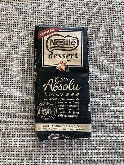Chocolat nestle noir absolu