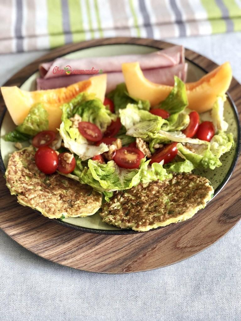 salade avec les galettes courgette avoine