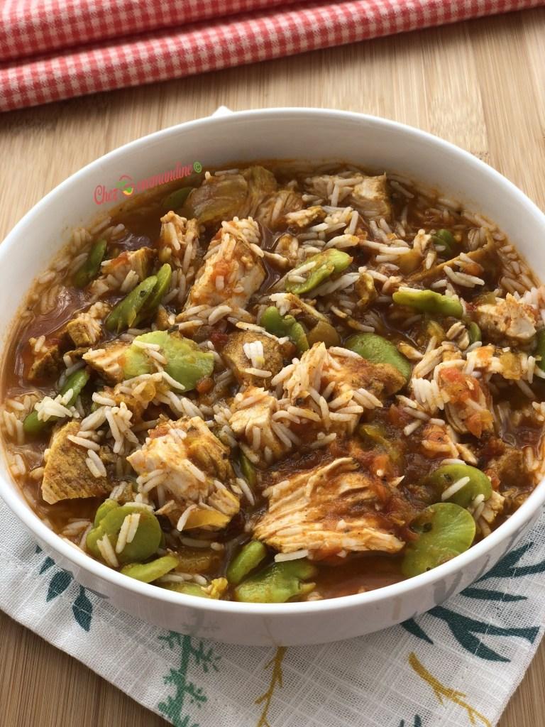 Curry de dinde au fèves