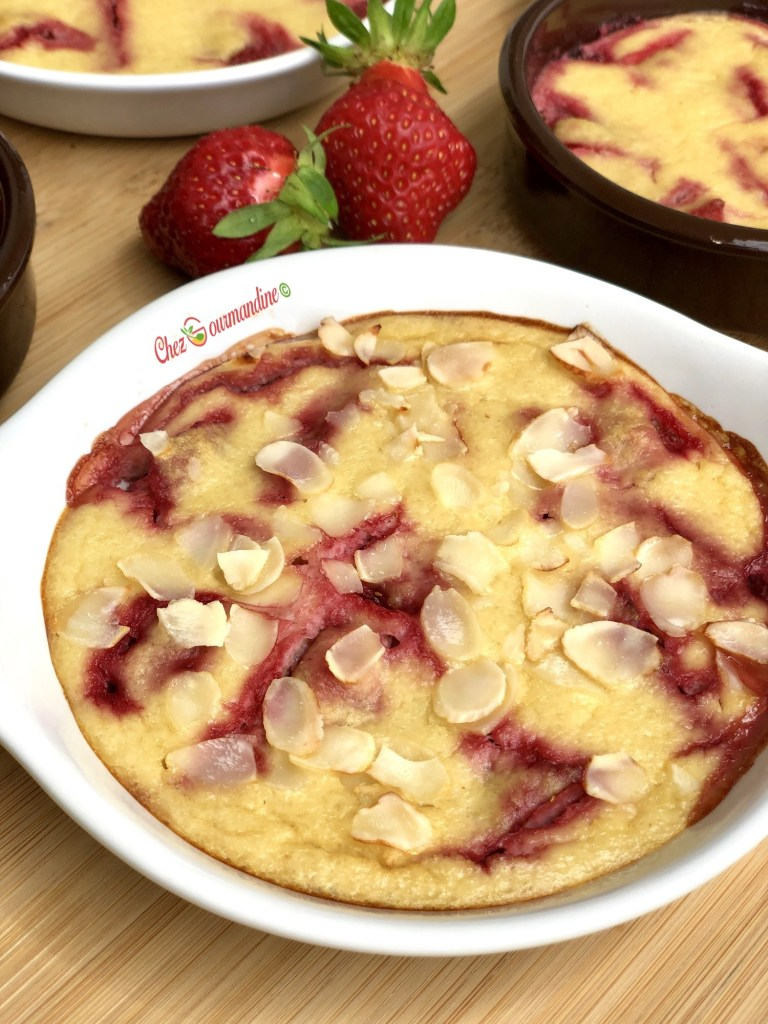 Gratin fraises frangipane