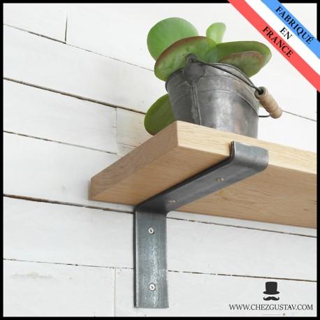 equerre en metal pour etagere murale 200 mm en bois industriel acier