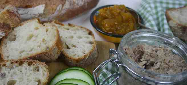 Pork Rillettes. A classic French dish that is easy to make, makes a great gift, is very cheap to make and lasts 6 weeks in the fridge if it's unopened.