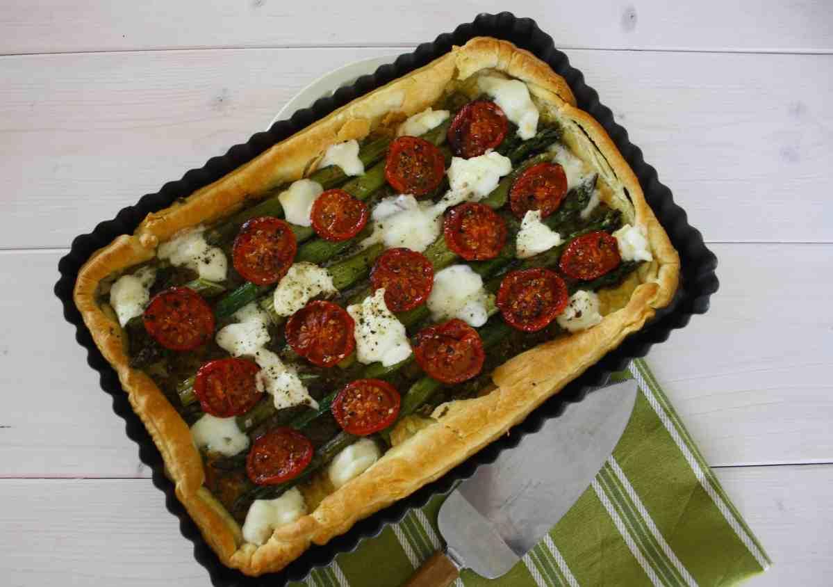 Roasted Asparagus Tart