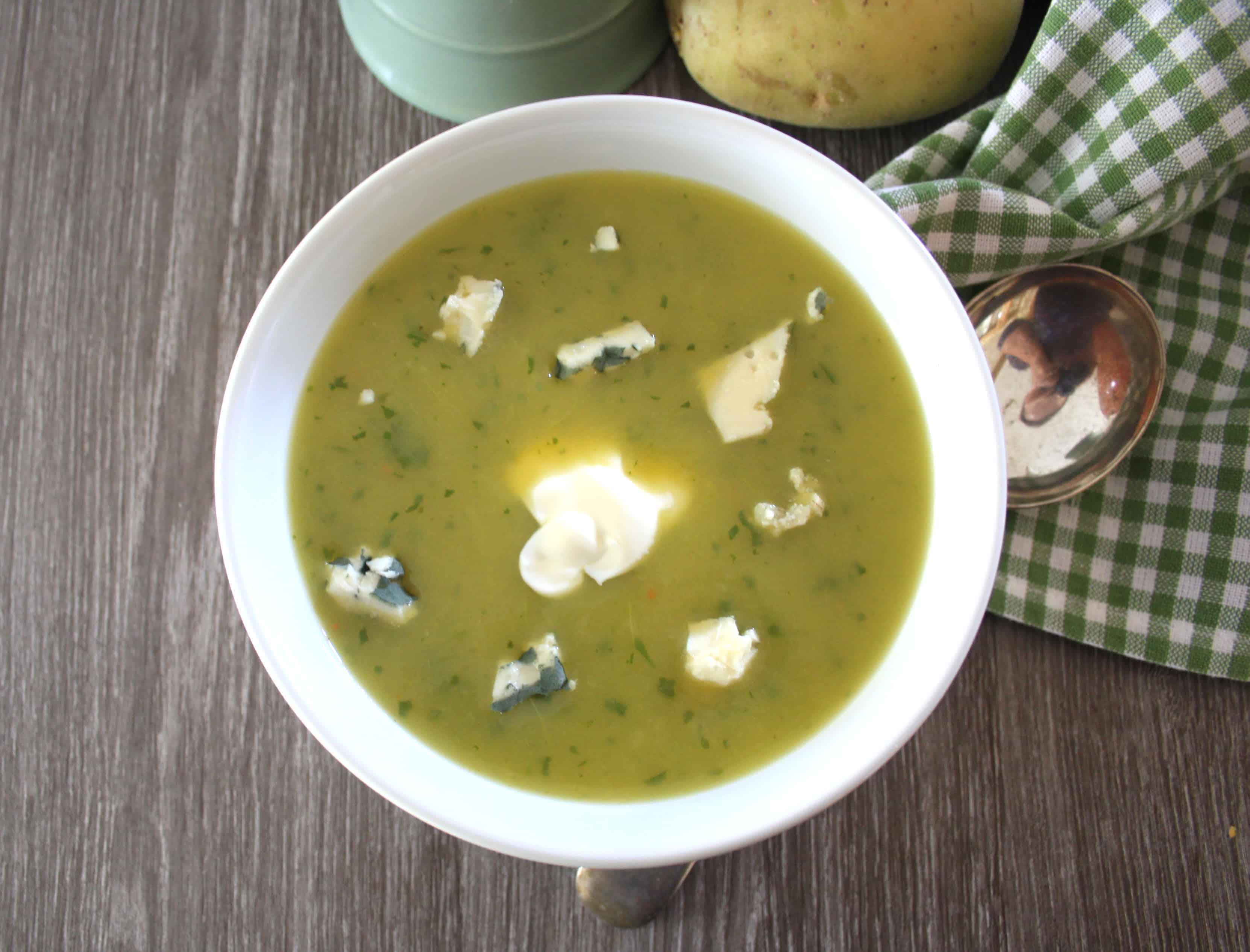 Fat-Free Potato and Leek Soup - Chez Le Rêve Français