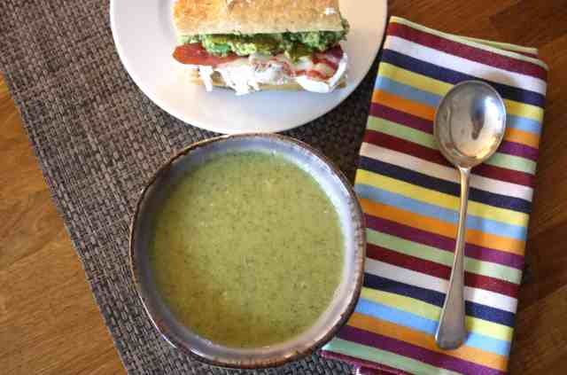 Broccoli Stilton Soup with 3 Ingredients. Here's a delicious soup that is far superior to anything ready made and ready in less than 20 minutes.