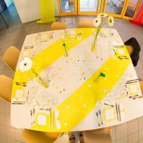mariage lego table jaune