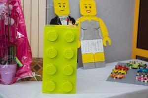 mariage lego urne à cadeaux
