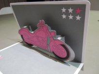 La moto en pop-up