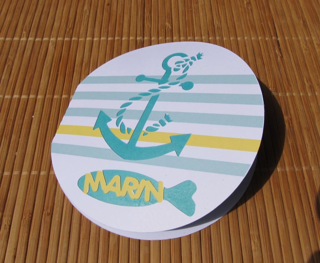 Faire-part naissance thème marin