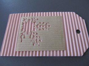 étiquette cadeaux noel rose pailletté