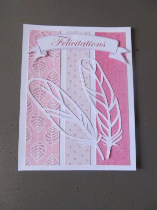 carte felicitations naissance plume rose (2)