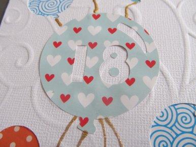 carte ballon d'anniversaire 18 ans