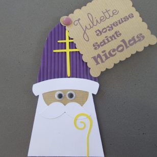 Saint Nicolas étiquette cadeau