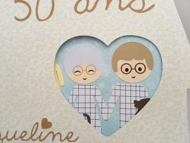 carte maison anniversaire de mariage coeur