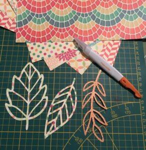 feuilles d'automne en papier