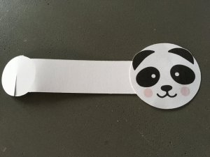 anniversaire panda, rond de serviette en papier