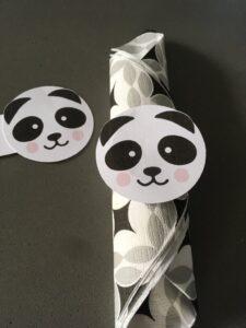 anniversaire panda rond de serviette tête de panda