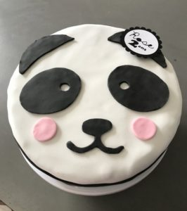 anniversaire panda gâteau en pate à sucre