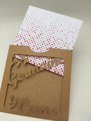 kraft invitation carte pochette