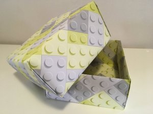 boite en papier peint avec couvercle