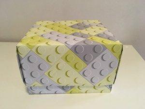 boite en papier peint Lego