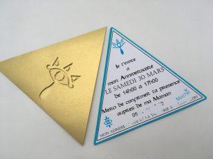 anniversaire Zelda invitation tri-force
